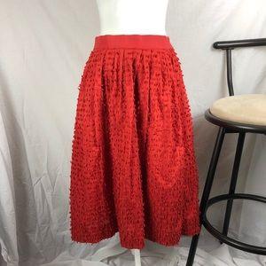J. Crew Midi Skirt in Cotton Clip Dot sz 4